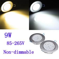9W Ljus CREE LED Infällda Down Light 85-265V + Driver