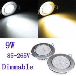 9W Dimmable Bright CREE LED Recessed Ceiling Down Light 85-265V