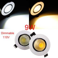 COB 9W Dimmbare LED Deckeneinbauleuchte Befestigungs Down Light 110V