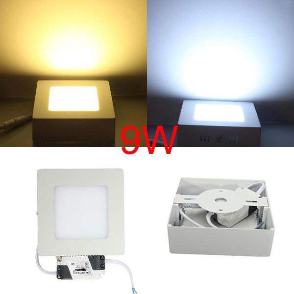 9W Dimmable LED Panel Wall Ceiling Down Light Bulb Lamp 85-265V LED Lighting