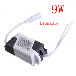 9W LED Dimmable Driver Transformer Power Supply For Bulbs AC85-265V