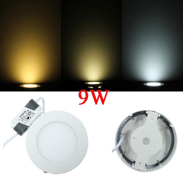 9W Round LED Panel Ceiling Down Light Lamp AC 85-265V LED Lighting