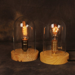 American Country Style Solid Wood LOFT Retro Bordslampa
