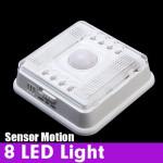 Auto 8 LED Light PIR Sensor Motion Detector Wireless Infrared Indoor LED Lighting