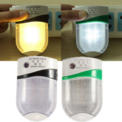 Automatic LED Night Light Plug In Safety Save Energy Sensor Lamp 220V