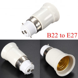 B22 to E27 Base Screw LED Lamp Bulb Holder Adapter Socket Converter