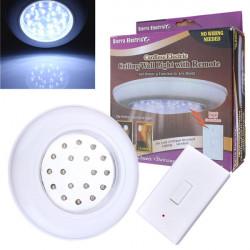 Batteri-operate Trådløs LED Natte Lampe Fjernbetjening Loftslampe