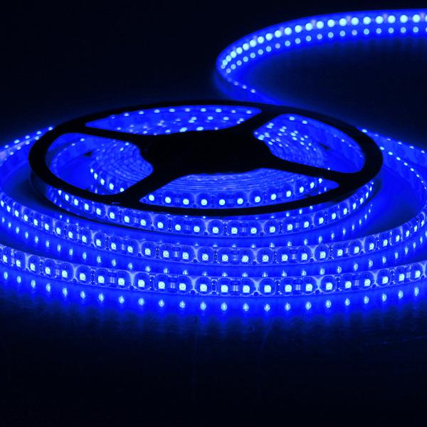 Blue 5M LED Strip Light Waterproof SMD 3528 12V DC 600 LED LED Strip
