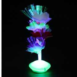 Colorful Fiber Optic Flower Xmas Gift Party Home Nightlight Lamp