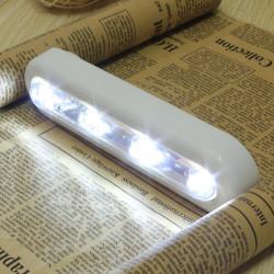 Trådløs 4-LED Skab Swivel Push Tap Touch Stick Natte Lampe