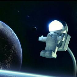 Creative Astronaut USB einstellbare Nachtlicht für Computer PC Lampe LED
