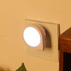 Creative Cute Q Shape Light Sensor LED Night Light Energy Saving Lamp