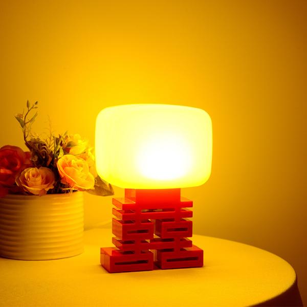 Creative Glädjande Ljud Control LED Nattlampa Säng Gift Lampa LED-belysning