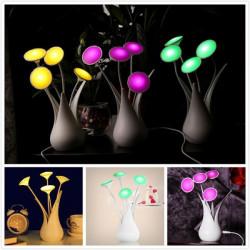 Kreative LED Auto Licht Sensor Vase Form USB Nachtlicht Lampe