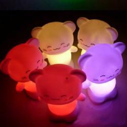 Gullig Katt LED Nattlampa Lycklig Katt Dekoration Lågenergilampa