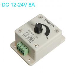 DC 12-24V 8A Justerbar Lysdæmper Switch Control for Single Farve LED Bånd Lysbånd
