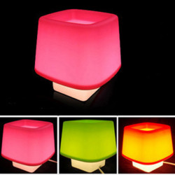 Decorative LED Night Light Accessory Container Lamp For Bedside