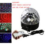 Digitale RGB LED Kristall magische Kugel MP3 Effekt Bühnenbeleuchtung AC100 LED Beleuchtung