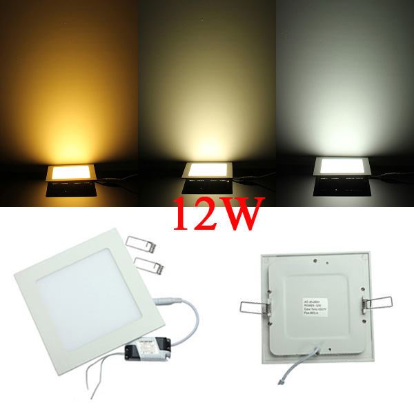 Dimmable 12W Square Ultrathin Ceiling Energy-Saving LED Panel Light LED Lighting