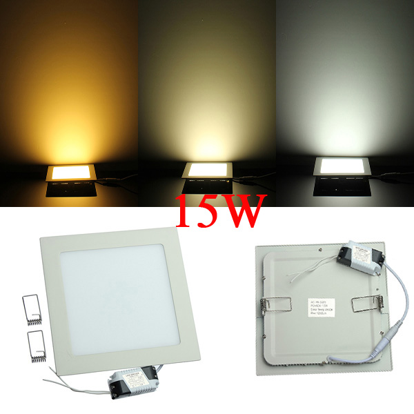 Dimmable 15W Square Ultrathin Ceiling Energy-Saving LED Panel Light LED Lighting
