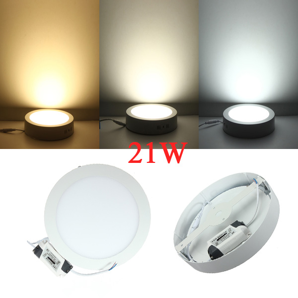 Dimmable 21W LED Surface Panel Wall Ceiling Down Light Lamp 85-265V LED Lighting