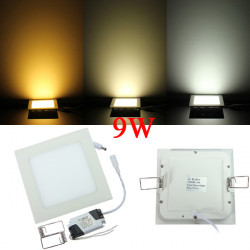Dimmbare Ultradünne 9W LED Decken Quadratische Anzeige unten Lampen
