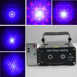 Double Eyes Laser Projector 8 in 1 Remote Control Disco Stage Light