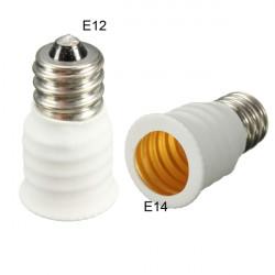 E12 bis E14 LED Lampe Lampenfassung Adapter Konverter