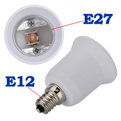 E12 bis E27 Kandelaber Halogen CFL Birnen Adapter Konverter
