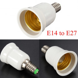 E14 to E27 Base Screw LED Lamp Bulb Holder Adapter Socket Converter
