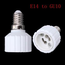 E14 zu GU10 LED Glühlampe Lampen Adapter Konverter Basis Sockel