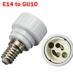 E14 to GU10 Light Lamp Bulb Adapter Converter
