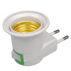 E27 Base Sockel EU Plug Nattlampa med Power On-off Kontroll Switch