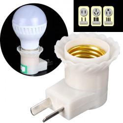 E27 zum Wechselstrom 110V 220V Lampen Birne Adapter Konverter Schalter