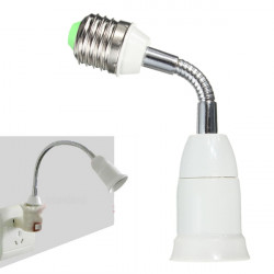 E27 To E27 Flexible Extend Base LED Light Adapter Converter Socket