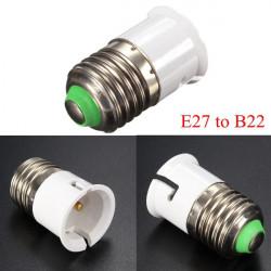 E27 to B22 Base Screw LED Lamp Bulb Holder Adapter Socket Converter