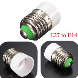 E27 till E14 Base Skruv LED Lampa Hållare Adapter Sockel Konverter