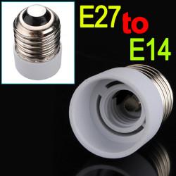 E27 till E14 Ljus Lampa Adapter Omvandlare Konverter