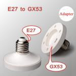 E27 zu GX53 Fassung Schraube LED Lampen Birnen Halter Adapter Einfaßungs Konverter Beleuchtung Zubehör