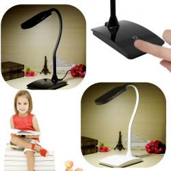 Flexibel Dimbar Uppladdningsbara Touch Sensor LED Läsa Ljus Bordslampa