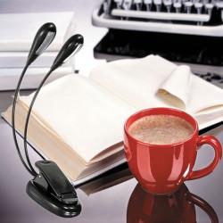 Flexible Dual Arm 8 LED Clip Desk Light Book-reading Laptop Stand Lamp