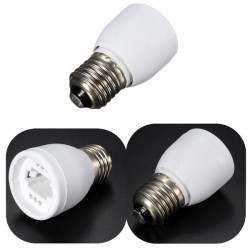 G24 to E27 LED Light Lamp Bulb Holder Adapter Socket Converter