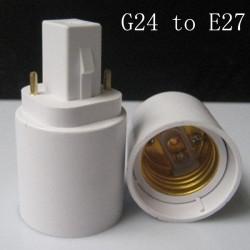 G24 zu E27 LED Licht Lampe Lampen Adapter