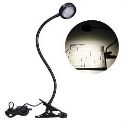 GTI Black LED Flexible Reading Light Clip-on Table Desk Lamp