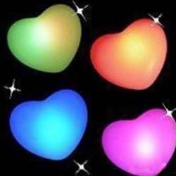 Hjärta LED Nattlampa Färg Skiftande Dekoration Lampa Lover Gift