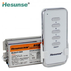Hesunse 4 Channels Wireless Remote RF Control Switch+Controller