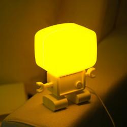 Intelligent Light-operated Robot LED Small Night Light Table Lamp