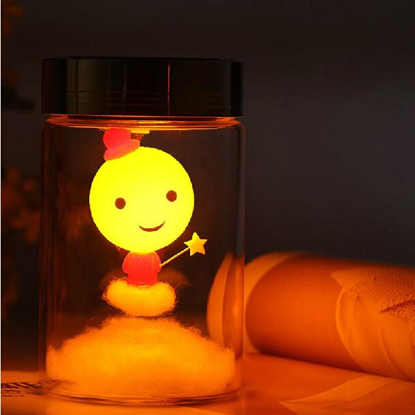 Intelligent Sun Jar Magician Ljussensor LED Nattlampa Solar Power LED-belysning