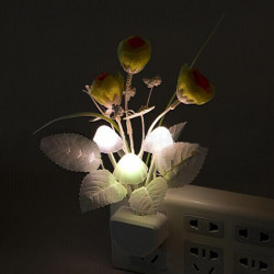 LED 7 Color Changing Light Sensor Control Rose Mushroom Night Light