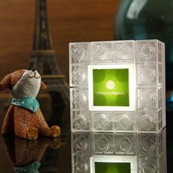 LED bunten Baustein Rahmen Nachtlicht Kreatives DIY Spielzeug